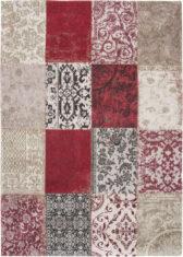 Czerwono bezowy dywan Patchwork - Antwerp Red 8985