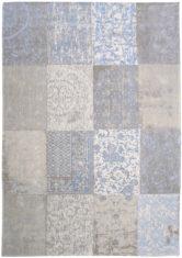 Niebiesk bezowy dywan Patchwork pastelowy - Gustavian Blue 8237
