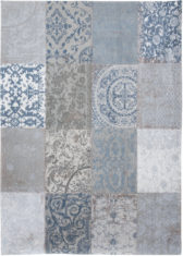 Niebieski dywan Patchwork - Bruges Blue 8981