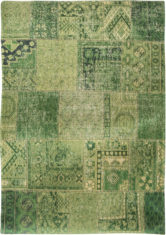 Patchwork Green Carpet - Hanging Gardens 8688