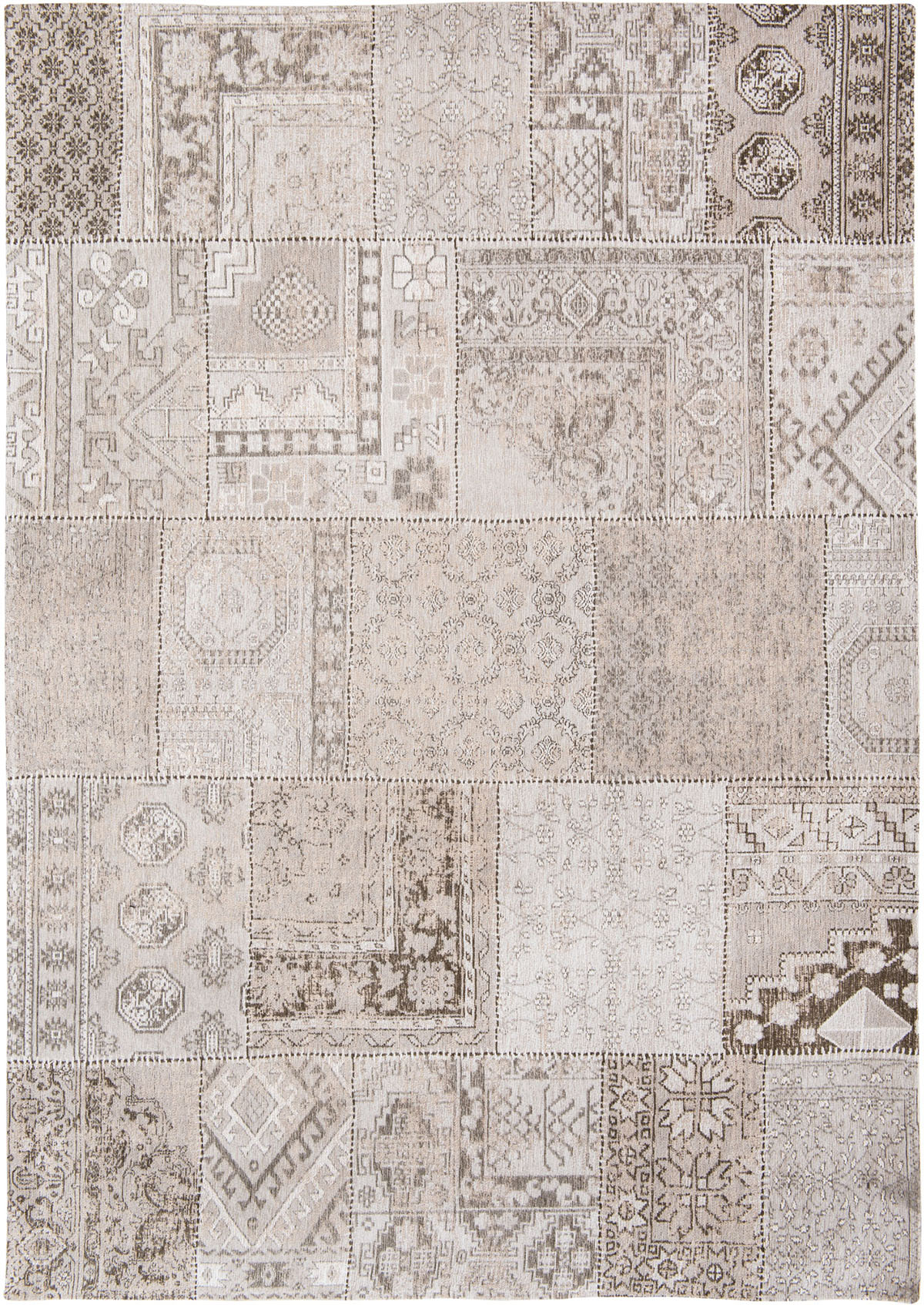 beżowy dywan patchwork 8685 Lawrence