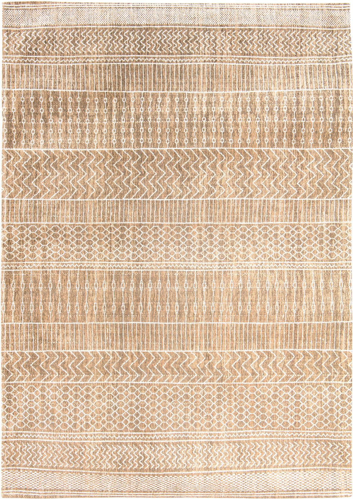 beżowy dywan we wzory - sandy gold 8674