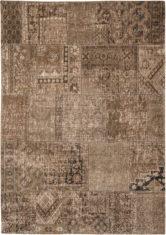 brązowy dywan patchwork - dust road 8784
