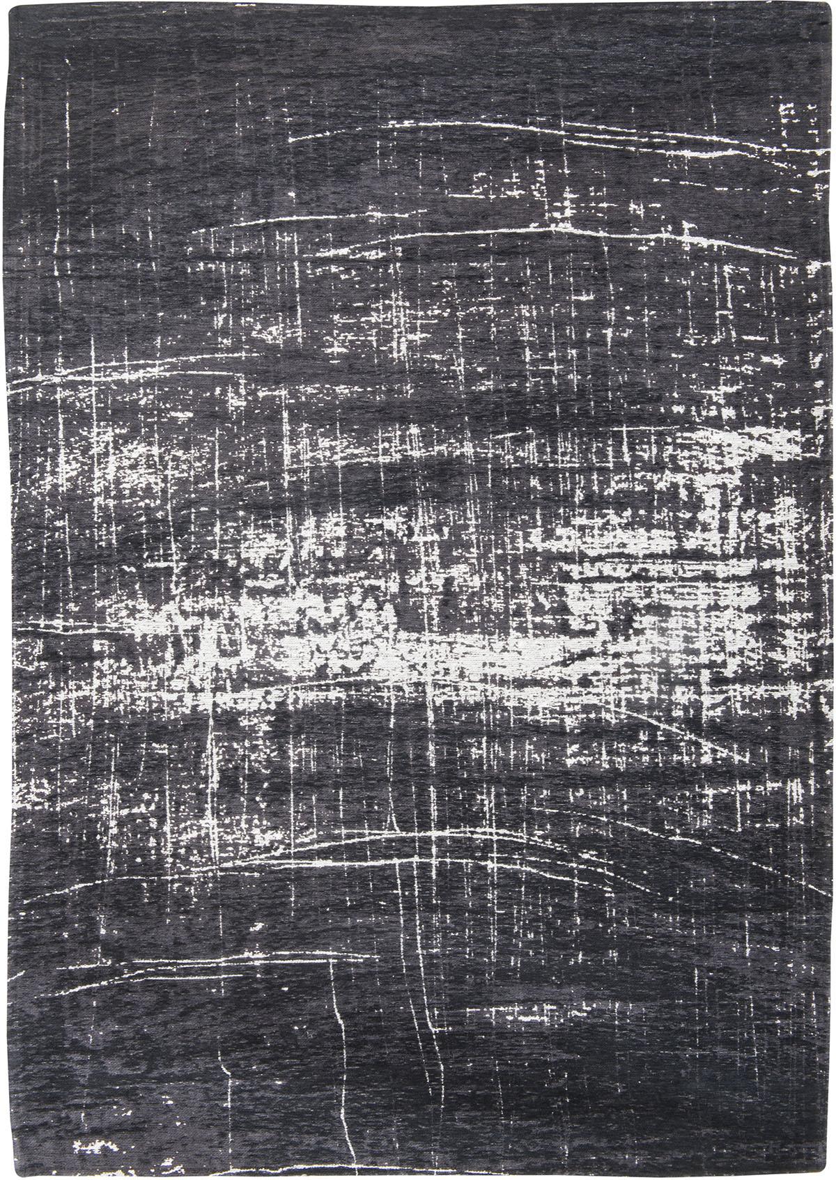 czarno biały dywan nowoczesny - White on Black 8655