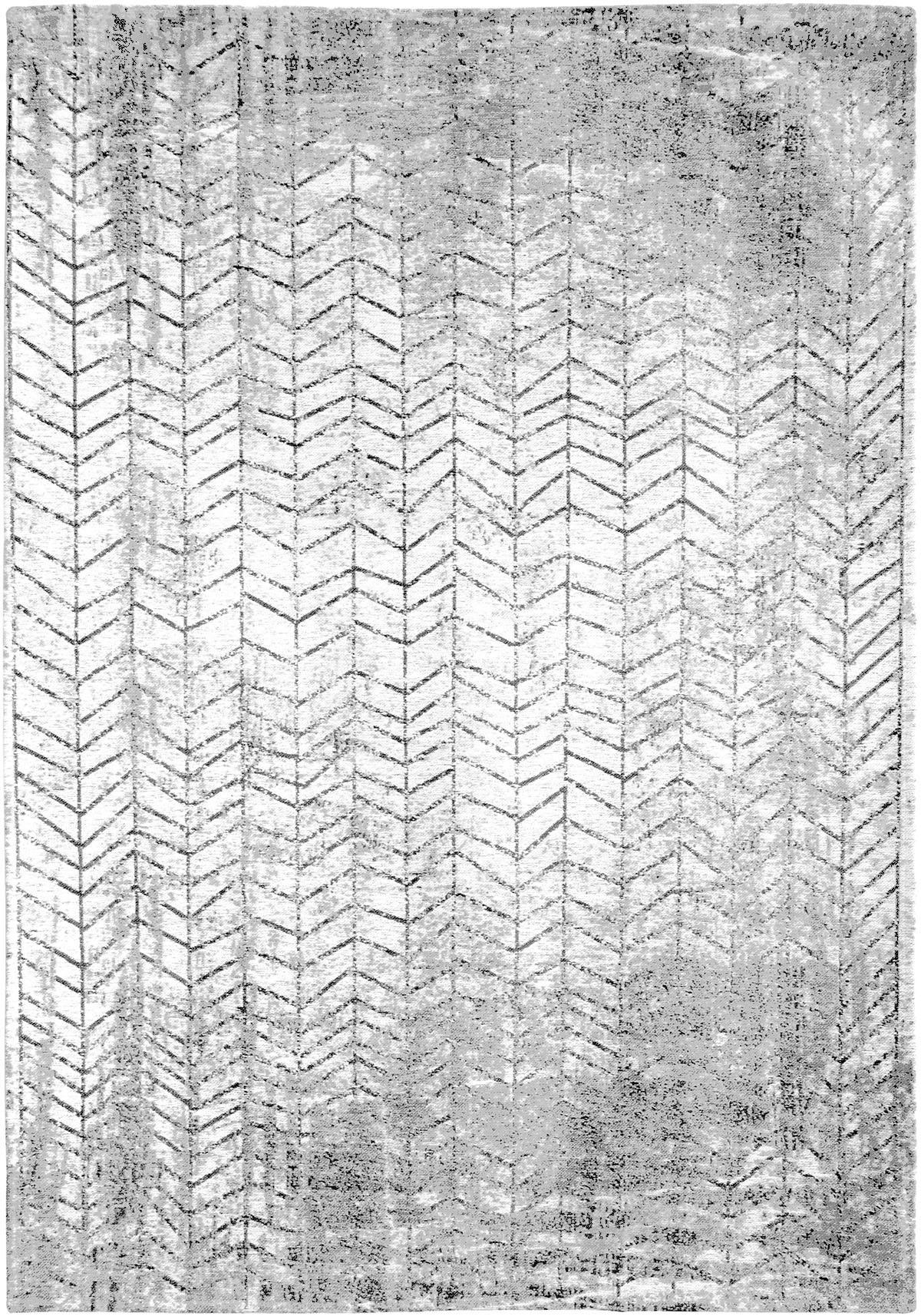 czarno biały dywan w jodełkę Black on White 8652
