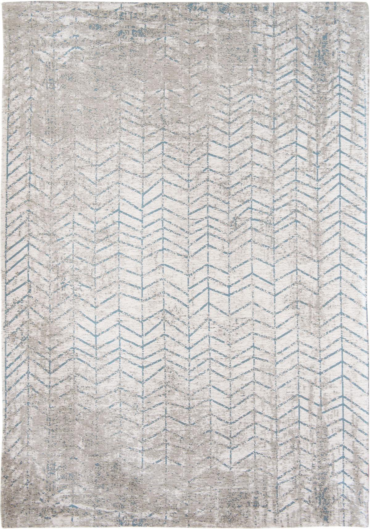 niebiesko biały dywan w jodełkę - Tribeca Blue 8927