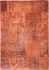 pomarańczowy dywan patchwork - rusty orange 8783