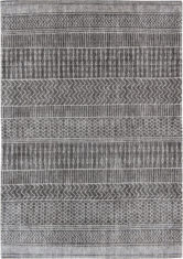 Amazonigh Gray Gray and Black Rug 8673