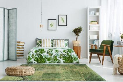zielony dywan patchwork Hanging Gardens 8688 aranzacja