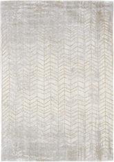 złoto biały dywan w jodelke - Central Yellow 8928