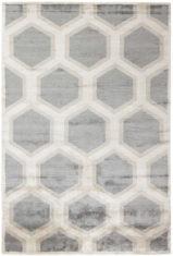 beżowo szary dywan geometryczny Cosmou Decor 7052