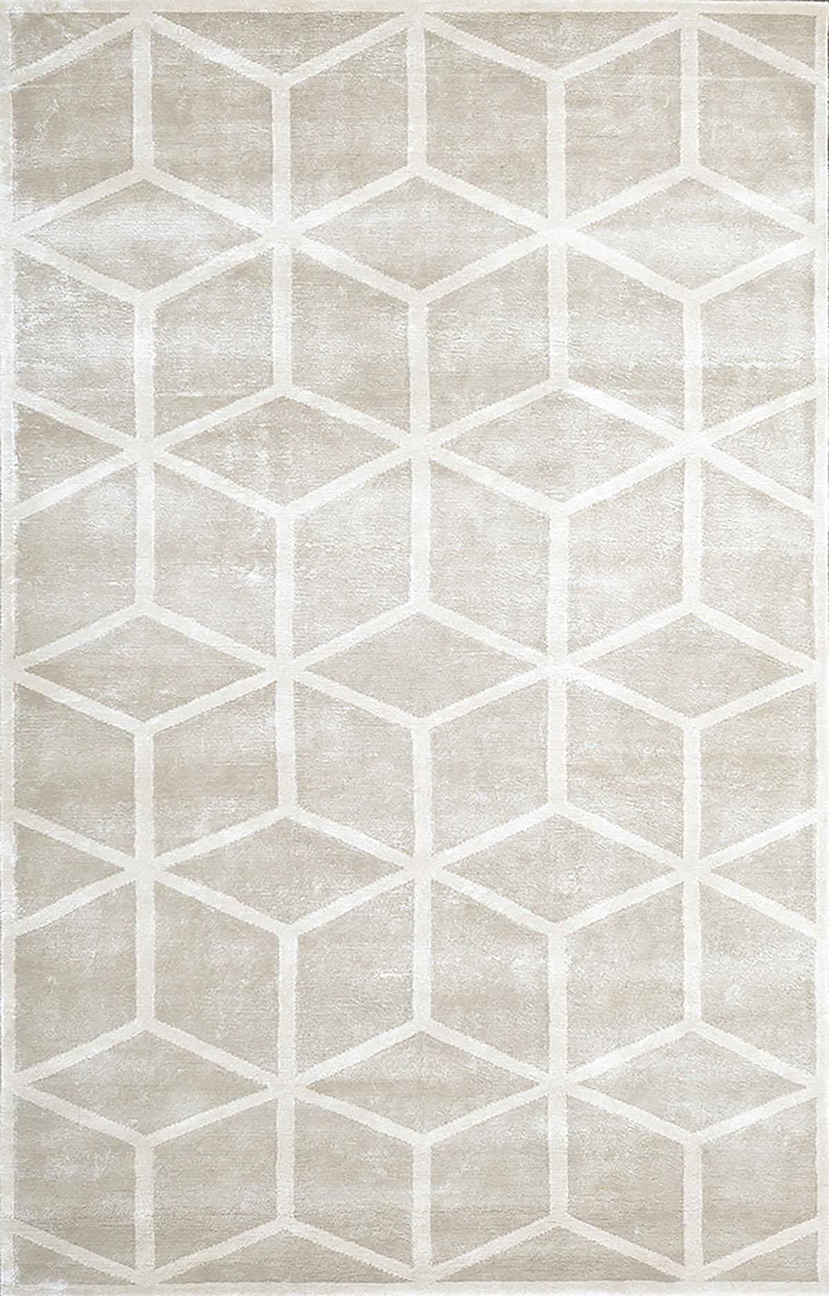 beżowy dywan geometryczny Cosmou Vedette 7051