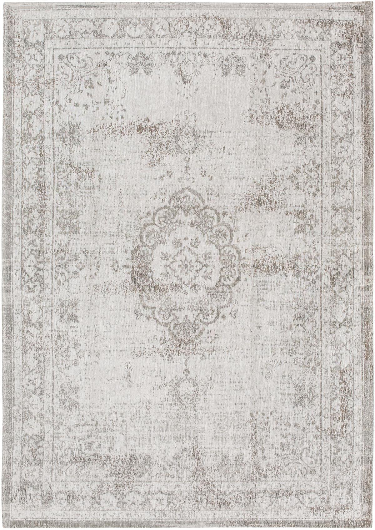 Świetny biały dywan klasyczny Salt & Pepper 8383