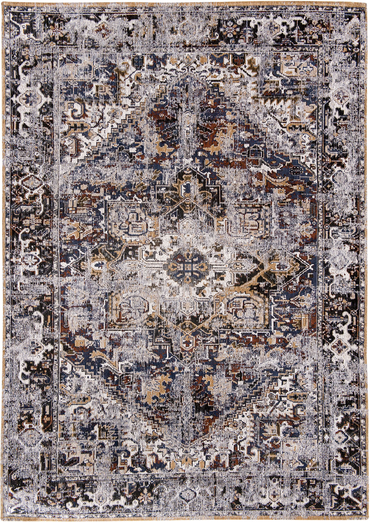 granatowo bordowy dywan klasyczny - Divan Blue 8707