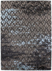 niebiesko szary ekskluzywny dywan 3D - Senses Veil 7070
