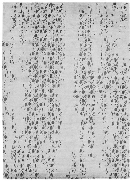 szary ekskluzywny dywan 3D - Senses Droplets 7074
