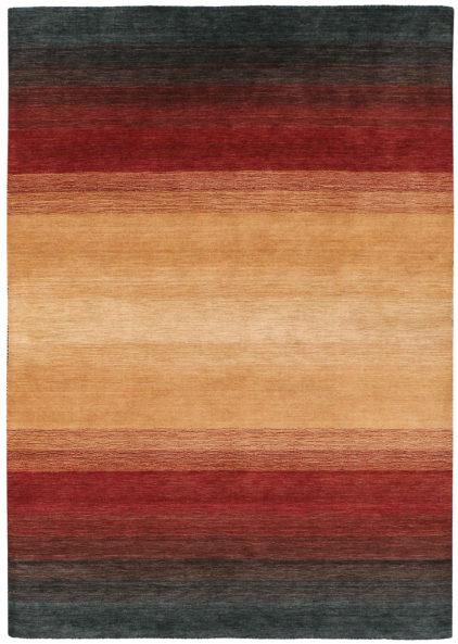 żółto czerwony dywan cieniowany Panorama Black Terra 7007