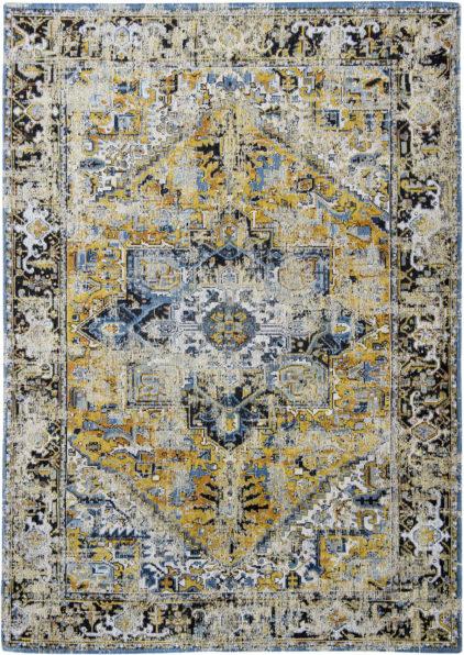 żółto niebieski dywan klasyczny Amir Gold 8704