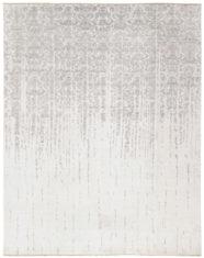 biało szary dywan ekskluzywny 3D - Damask 7092