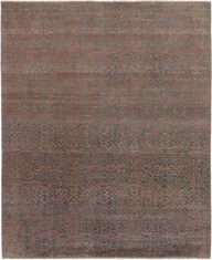 brązowy dywan ekskluzywny 3D - Damask 7090