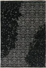 czarny dywan ekskluzywny 3D - Damask 7081