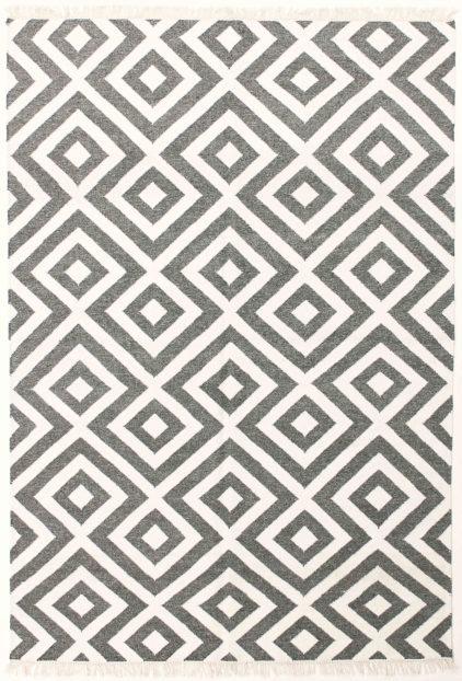 dywan w romby czarno biały carpediem Dark Grey 7062
