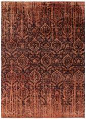 pomarańczowy dywan ekskluzywny 3D - Damask 7080