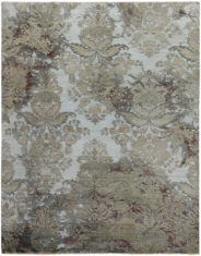 szaro beżowy dywan ekskluzywny 3D - Damask 7085