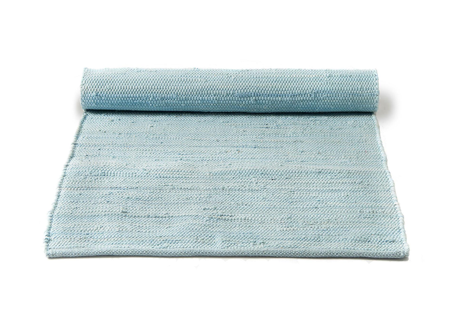 błękitny dywan bawełniany z recyklingu - Daydream Blue 0037