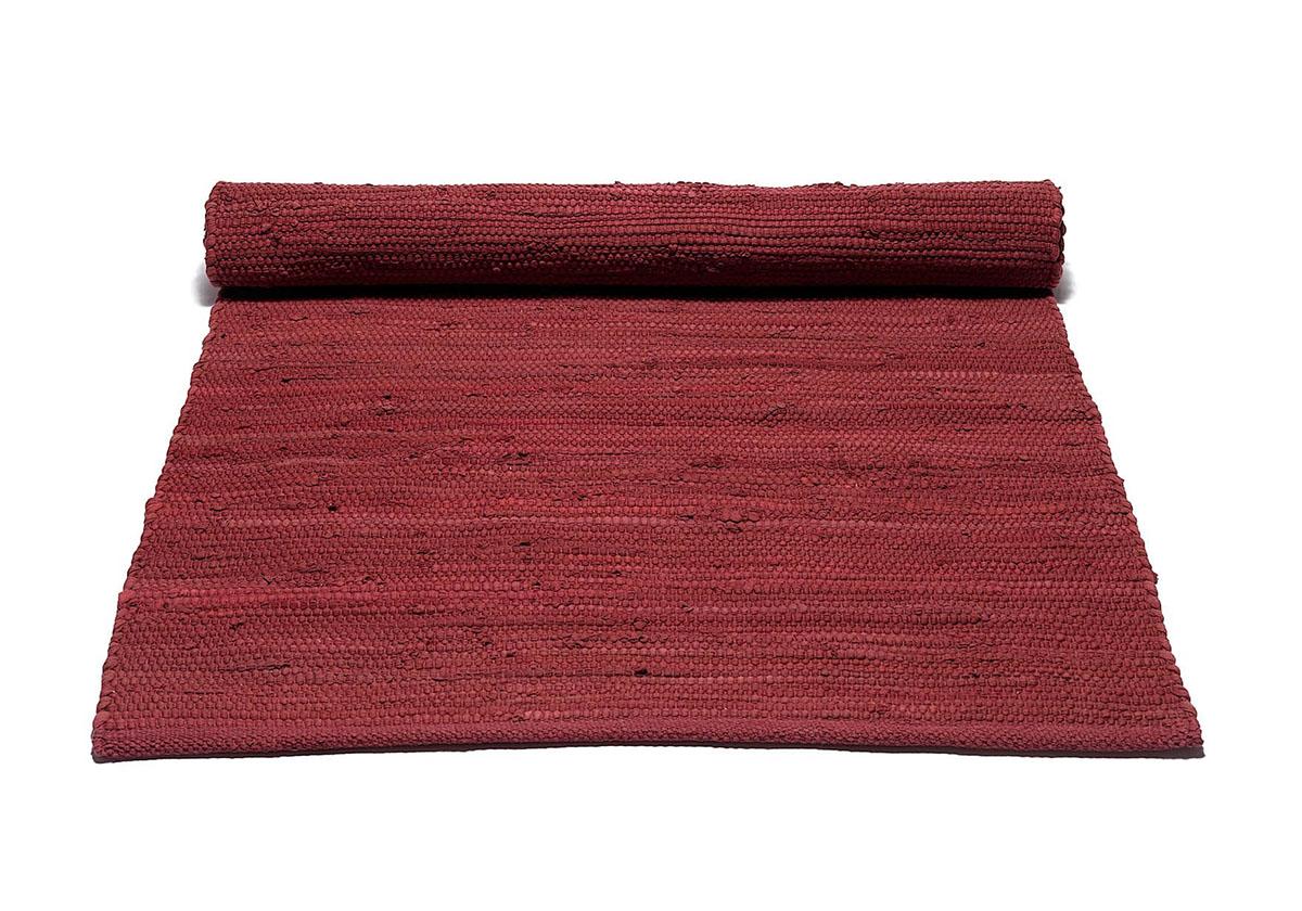 czerwony dywan bawełniany z recyklingu - Rosewood Red 0050