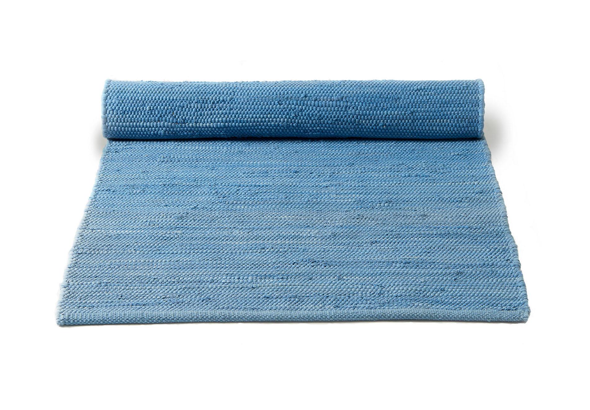 niebieski Dywan bawełniany z recyklingu - Eternity Blue 0036