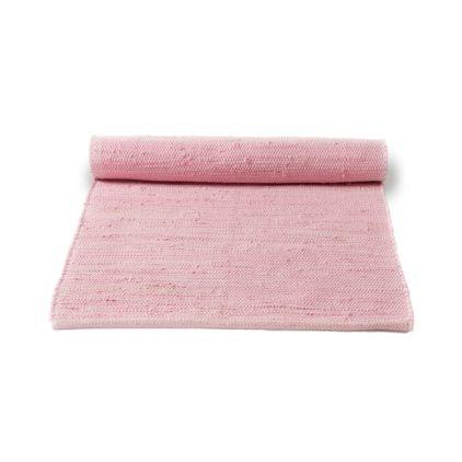 różowy dywan bawełniany z recyklingu - Candyfloss Pink 0051