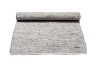 szary Dywan bawełniany z recyklingu - Grey 0034