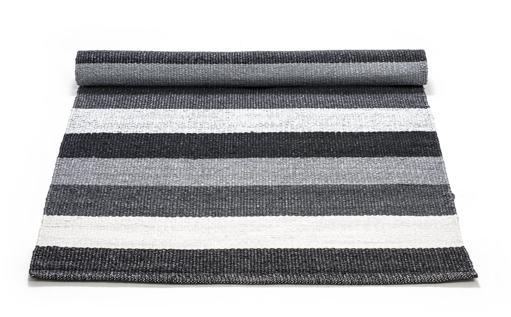 Plastic Black Grey Striped 0011 Rozmiary 60x90 75x200