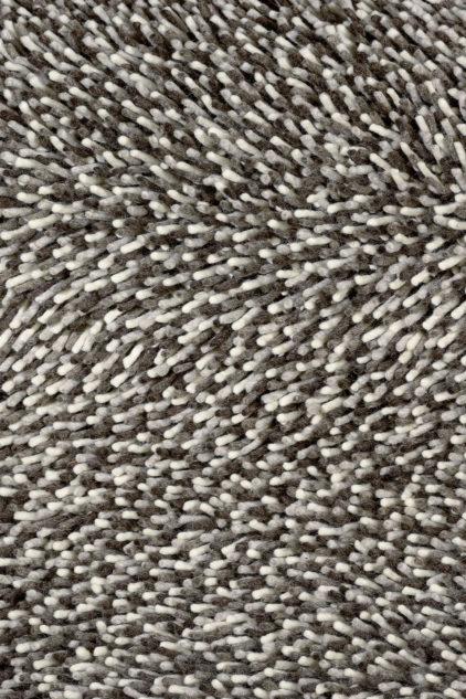 Dywan shaggy czarno biały Gravel Mix 68211