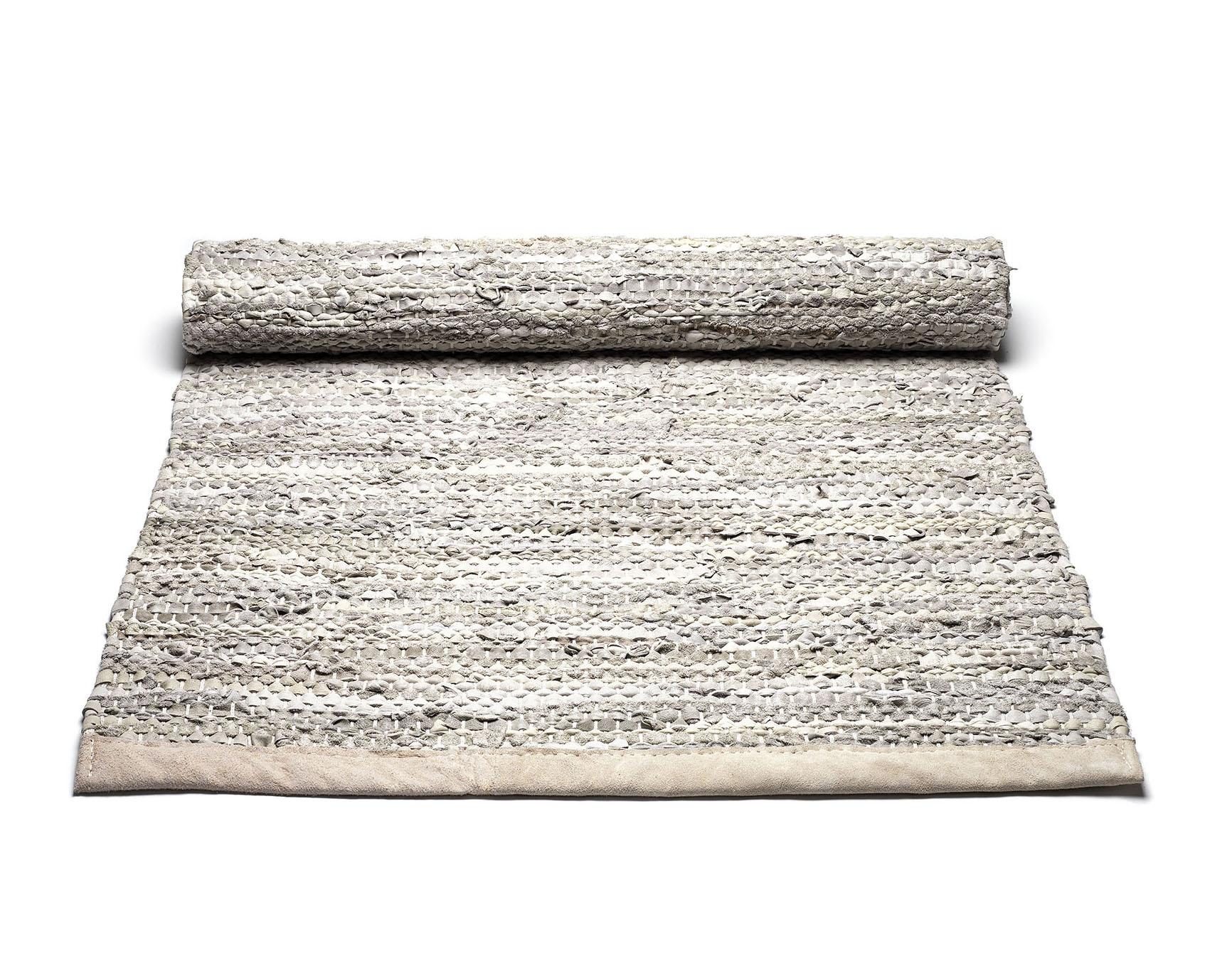beżowy dywan skórzany z recyklingu Leather Beige 0020