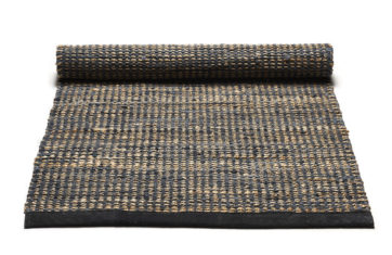 Graphite beige jute rug and recycled leather - Graphite 0027