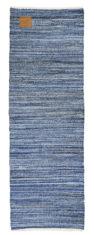 niebieski dywan dżinsowy z recyklingu 80x240 Jeans 0045
