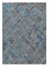 niebieski dywan geometryczny Prado Crayon 22608
