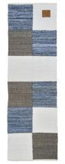 niebiesko szary dywan dżinsowy z recyklingu 80x240 Patchwork Jeans 0046