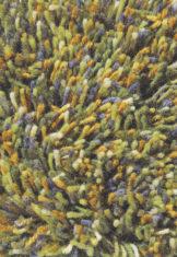 zielony dywan shaggy Flamenco 59007