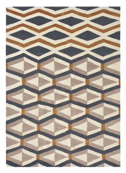 Beżowy dywan geometryczny Yara Artdeco 33504
