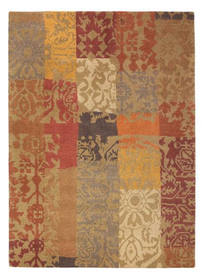 brązowy dywan patchworkowy Yara Patchwork 194003