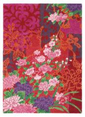 czerwony dywan w kwiaty Yara Garland 133300