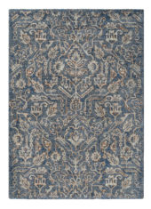 niebiesko beżowy dywan w ornamenty Prado Maya 21708