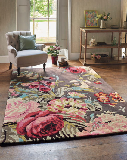 Kolorowy Dywan w Kwiaty Stapleton Park Rosewood 45302 - aranżacja