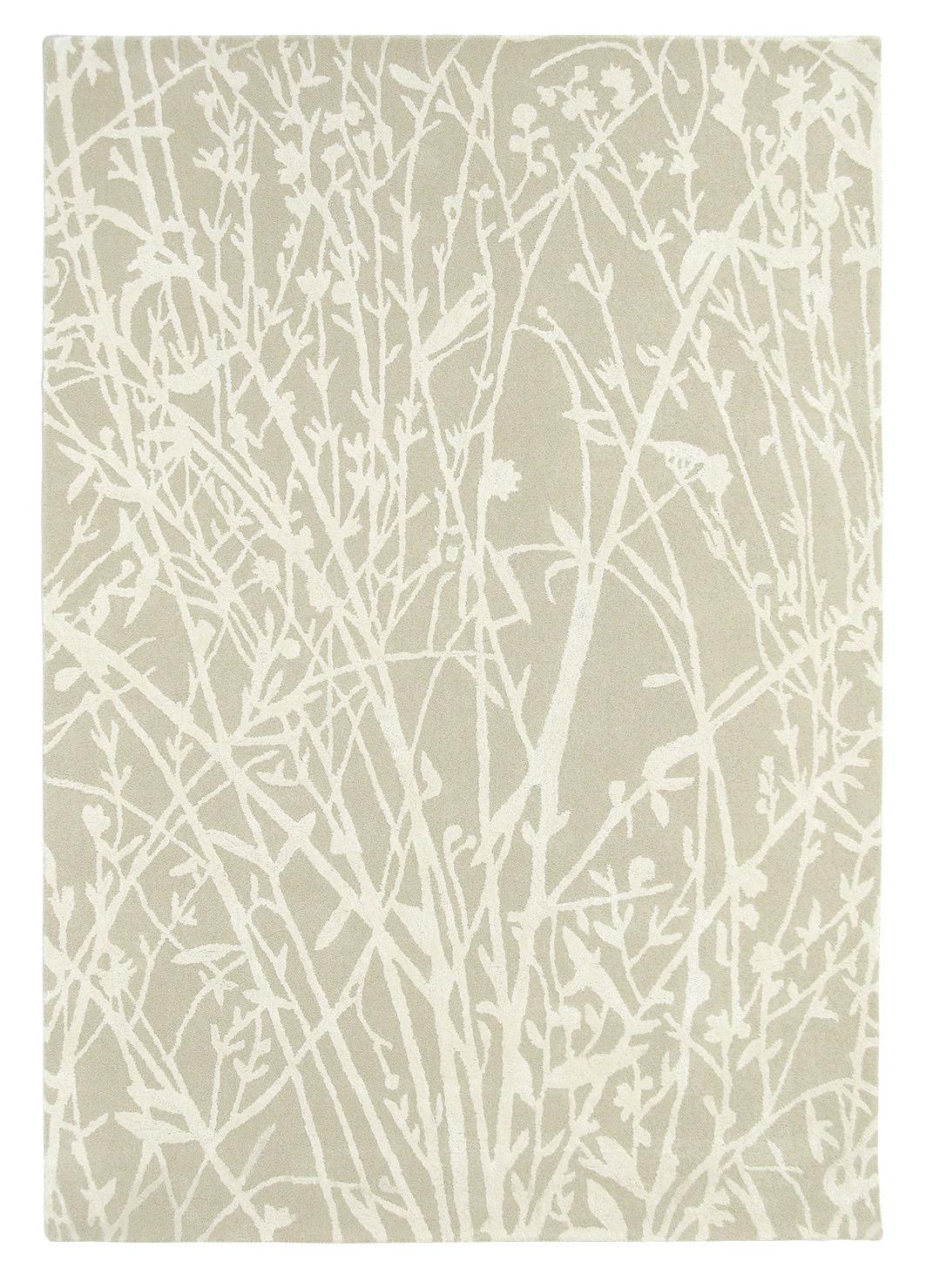 beżowy dywan w kwiaty Meadow Linen 46809