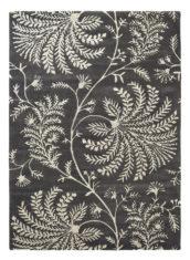 czarno biały dywan w kwiaty Mapperton Graphite 45905