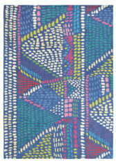niebieski dywan artystyczny Palais 18408
