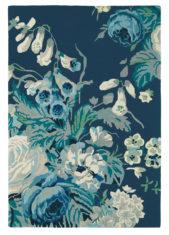 niebieski dywan w kwiaty Stapleton Park Admiral Blue 45308